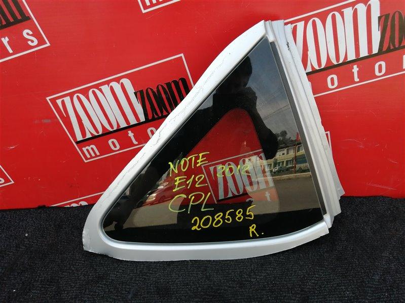 Стекло собачника Nissan Note E12 HR15DE 2012 заднее правое