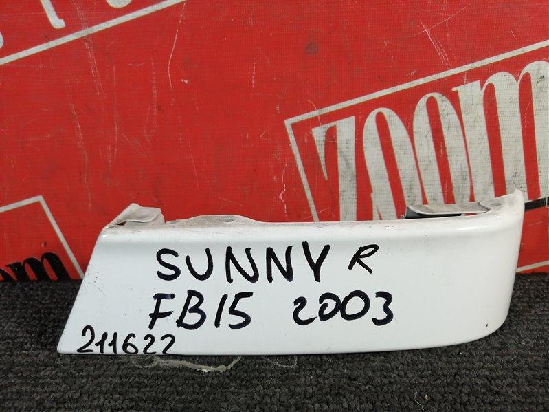 Планка под фонарь Nissan Sunny FB15 QG15DE 2003 задняя правая белый
