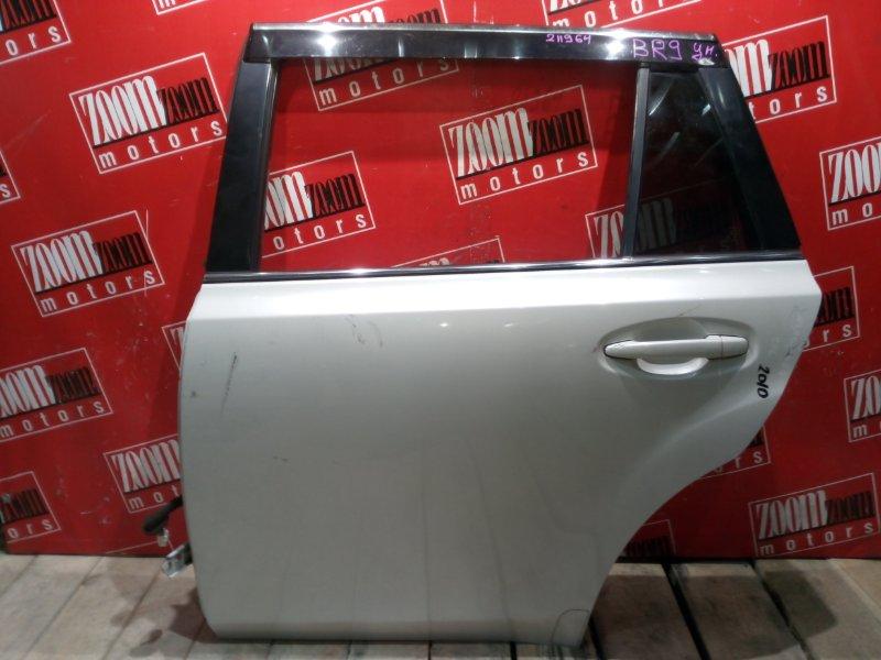 Дверь боковая Subaru Legacy BR9 EJ25 2009 задняя левая белый перламутр