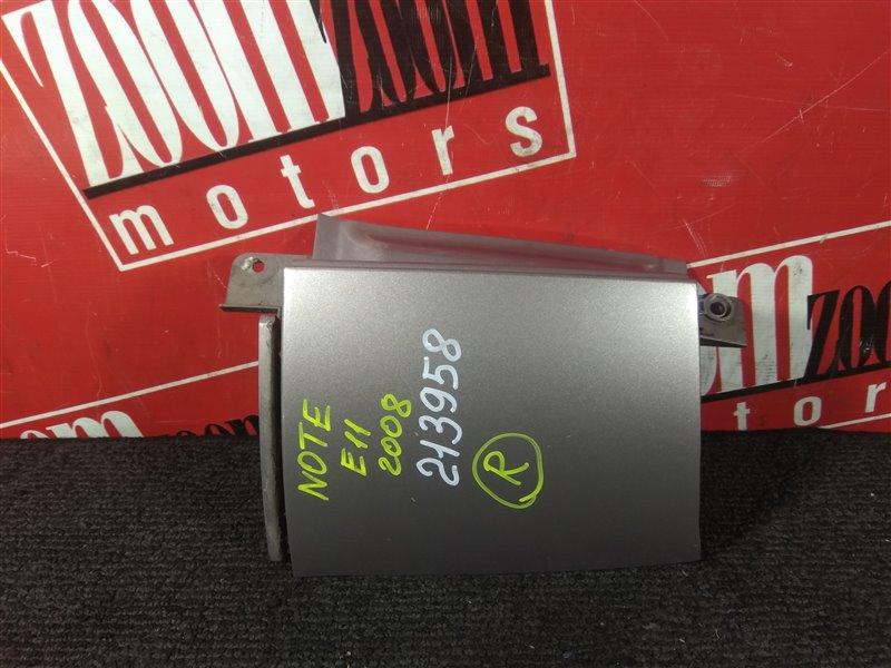 Планка под фонарь Nissan Note E11 HR15DE 2005 задняя правая серо-розовый