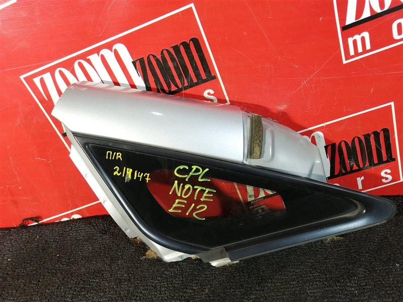 Стекло боковое Nissan Note E12 HR15DE 2012 переднее правое