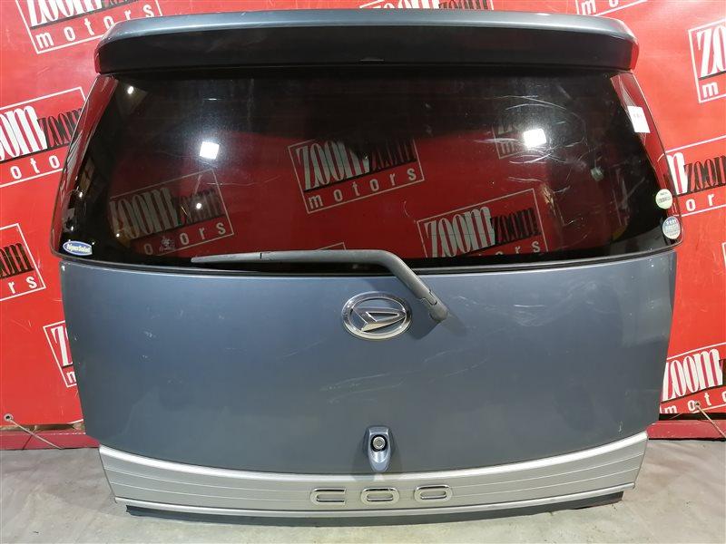 Дверь задняя багажника Daihatsu Coo M402S 3SZ-VE 2006 задняя серо-голубой