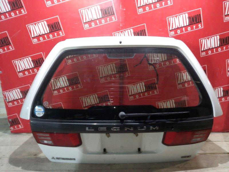 Дверь задняя багажника Mitsubishi Legnum EA4W 6A12 1996 задняя белый