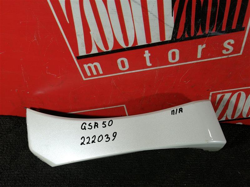 Накладка на крыло Toyota Estima GSR50 2GR-FE 2006 передняя правая белый перламутр