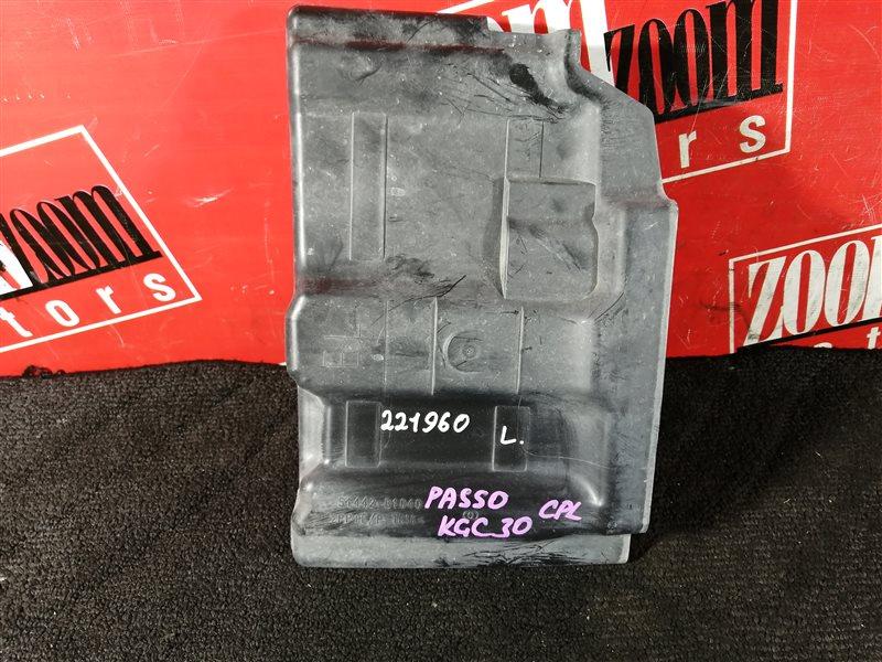 Пластиковые детали салона Toyota Passo KGC30 1KR-FE 2010 левое