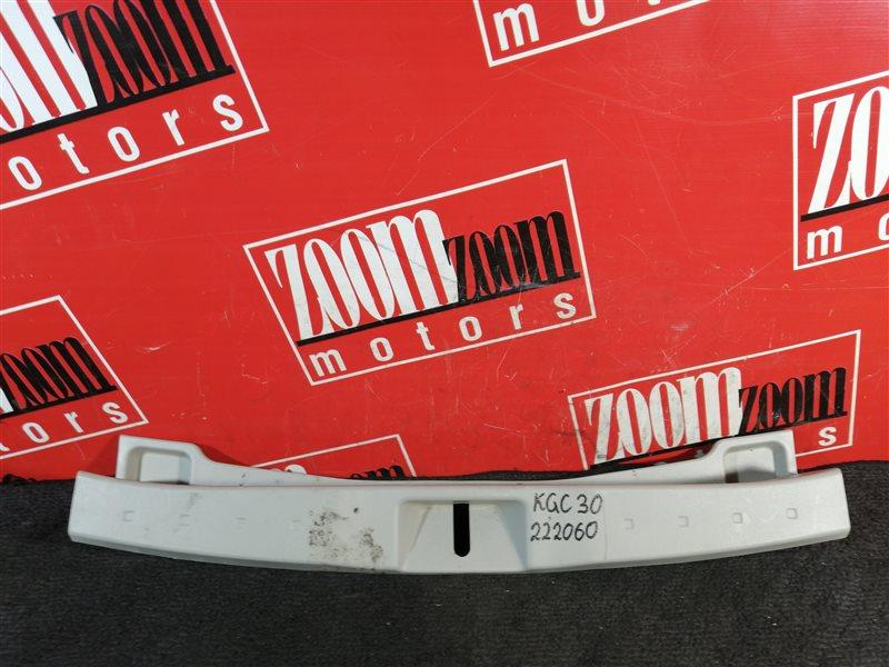 Накладка багажника Toyota Passo KGC30 1KR-FE 2010 задняя бежевый