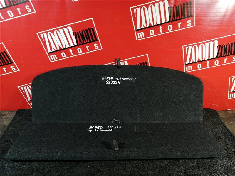 Пол багажника Toyota Ist NCP60 1NZ-FE 2002 задний черный