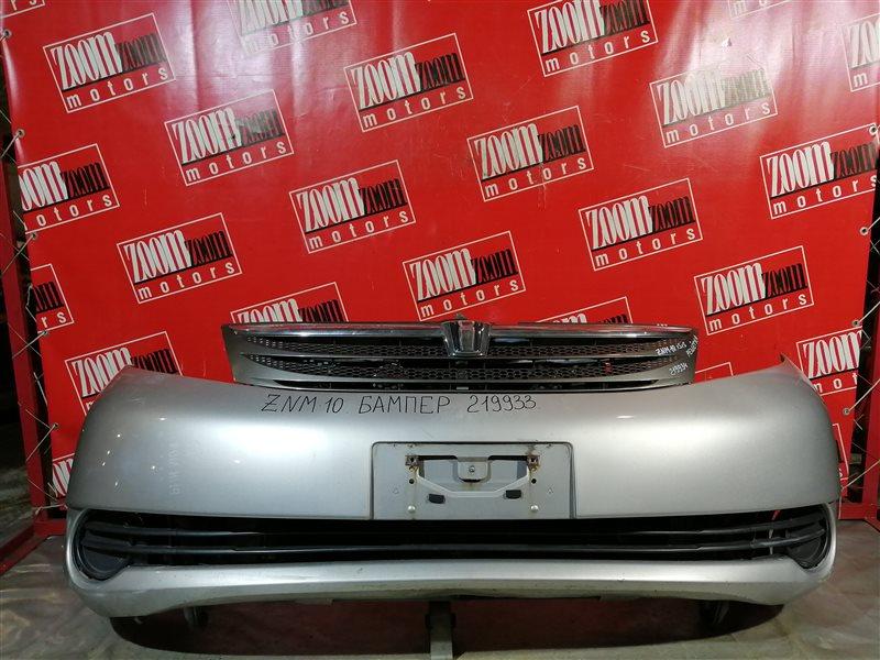 Бампер Toyota Isis ZNM10 1ZZ-FE 2004 передний серебро