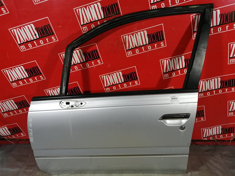 Дверь боковая Nissan Presage NU30 KA24DE 1998 передняя левая серебро