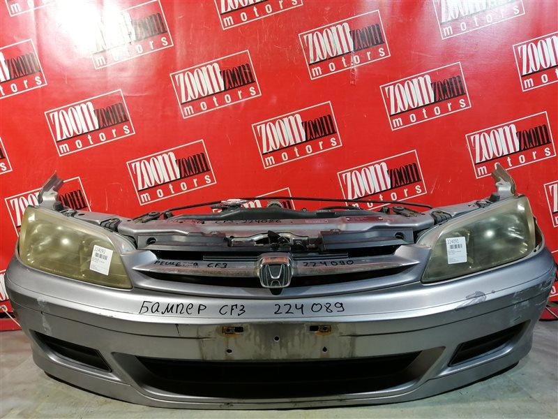 Бампер Honda Torneo CF3 F18B 2001 передний темно-серый