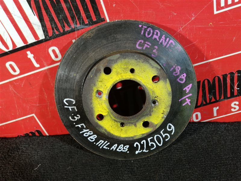 Диск тормозной Honda Torneo CF3 F18B 1997 передний