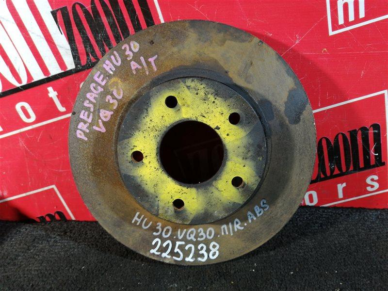 Диск тормозной Nissan Presage U30 VQ30DE 1998 передний