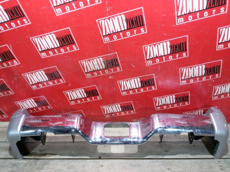 Бампер Mitsubishi Pajero V45W 6G74 1997 задний серебро
