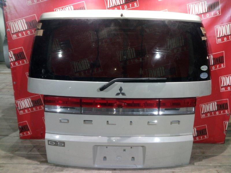 Дверь задняя багажника Mitsubishi Delica CV5W 4B12 2007 задняя белый перламутр