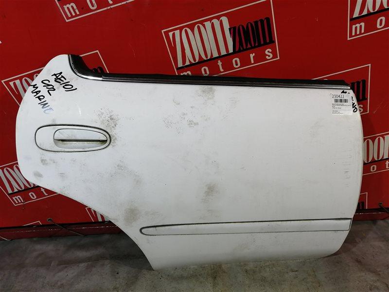 Дверь боковая Toyota Sprinter Marino AE101 4A-FE 1992 задняя правая белый