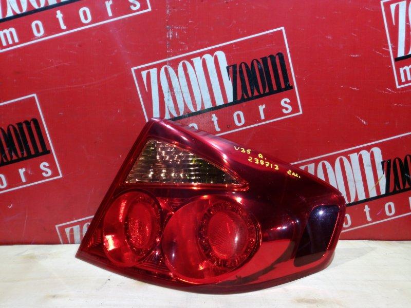 Фонарь (стоп-сигнал) Nissan Skyline V35 VQ25DD 2001 задний правый 220-63790