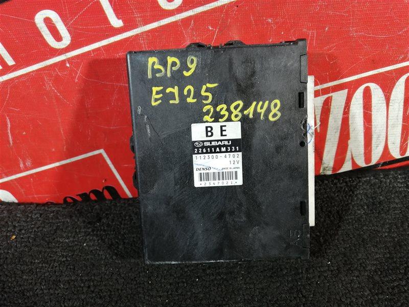 Компьютер (блок управления) Subaru Legacy Outback BP9 EJ25 2003 22611 AM331 112300-4702