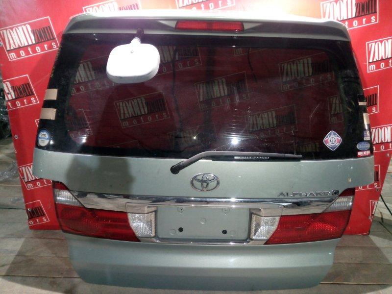 Дверь задняя багажника Toyota Alphard ANH10 2AZ-FE 2002 задняя голубой 58-6