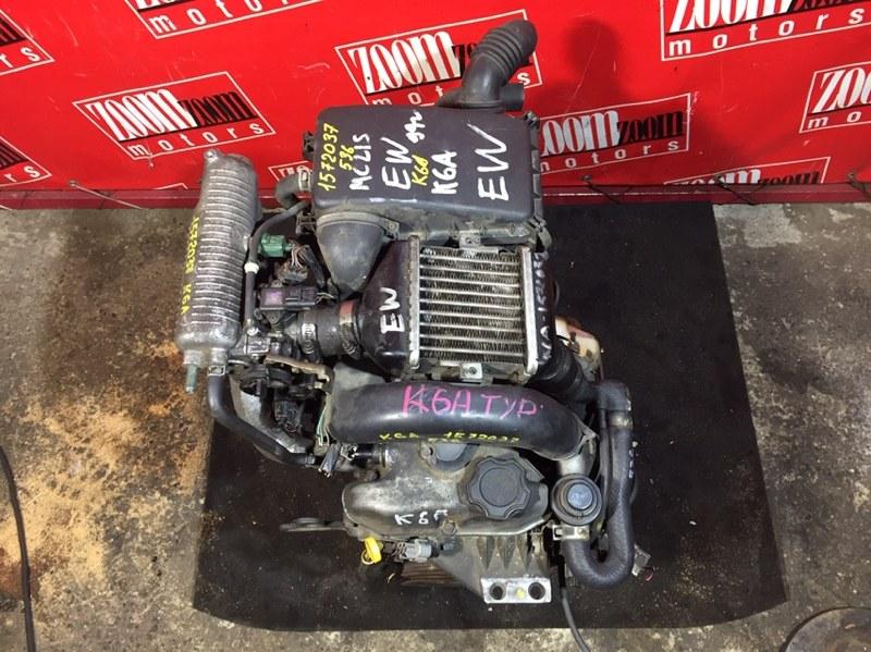 Двигатель Suzuki Wagon R Solio MA34S K6A-T 2000 1572037