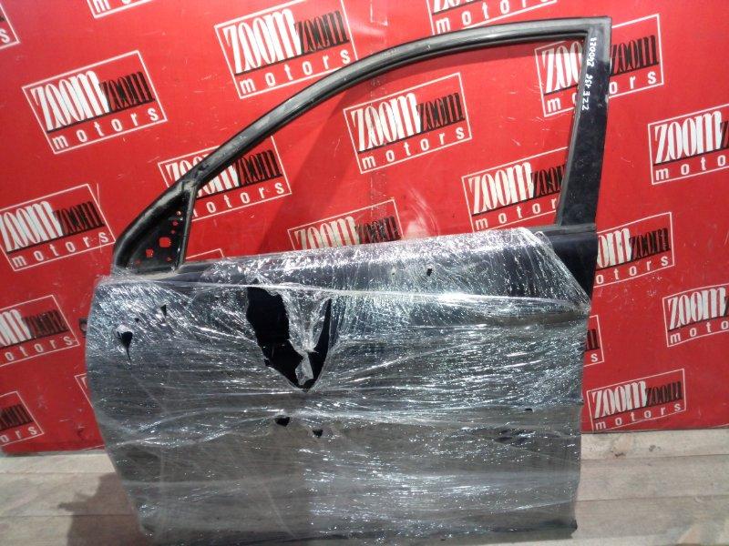 Дверь боковая Toyota Voltz ZZE136 1ZZ-FE 2002 передняя левая черный