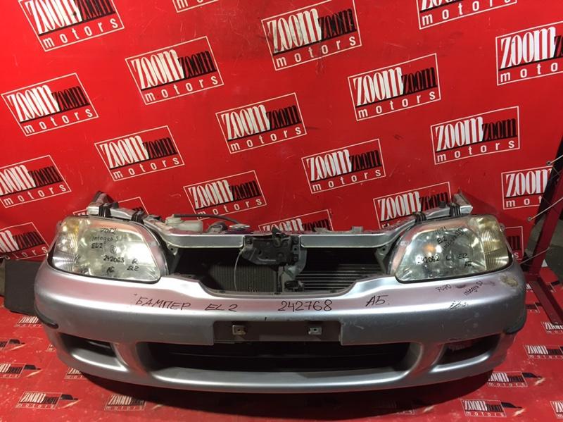 Бампер Honda Orthia EL2 B20B 1996 передний серебро
