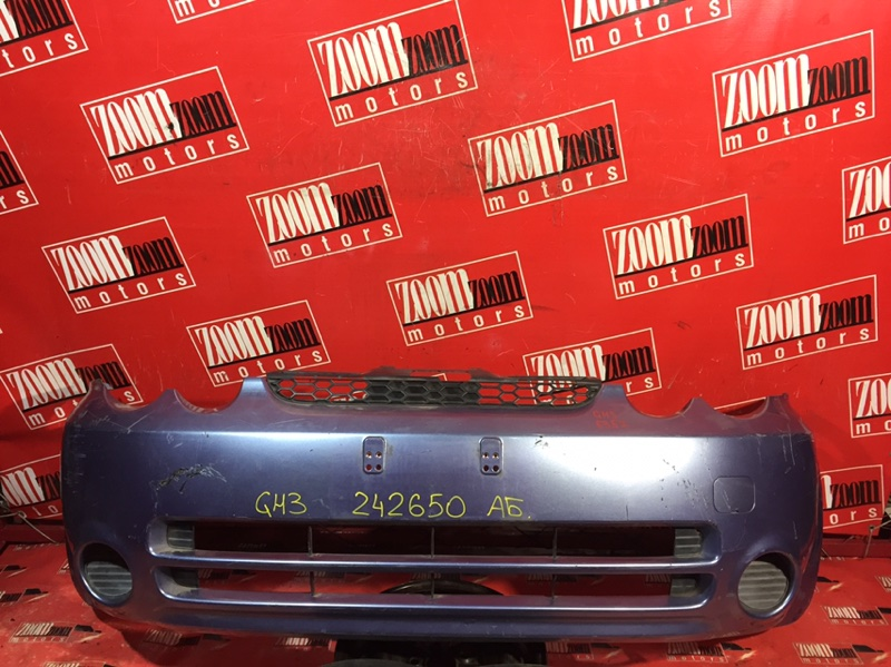 Бампер Honda Hr-V GH3 D16A 1999 передний голубой