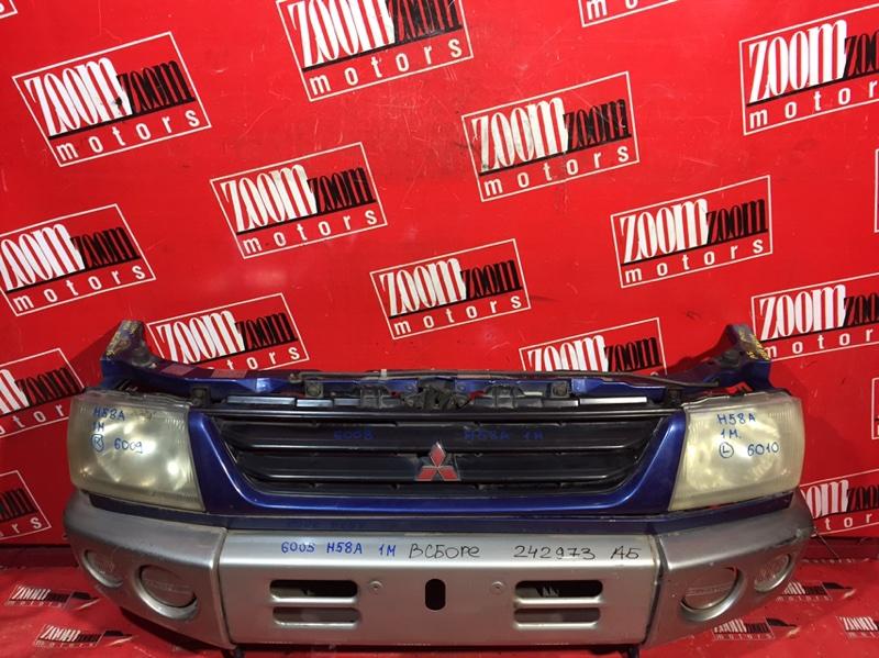 Nose cut Mitsubishi Pajero Mini H58A 4A30 1998 передний серо-синий