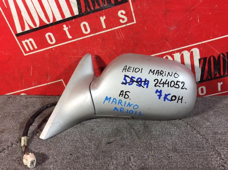 Зеркало боковое Toyota Sprinter Marino AE100 4A-FE 1992 переднее левое серебро