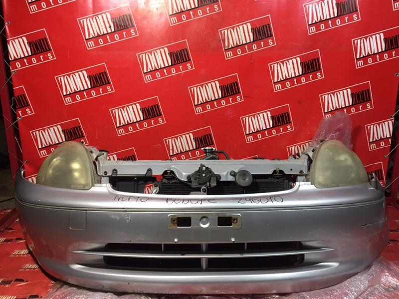 Nose cut Toyota Vitz Clavia NCP13 1NZ-FE 1999 передний серебро