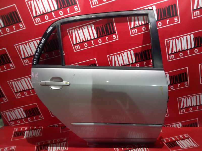 Дверь боковая Toyota Allex NZE121 1NZ-FE 2001 задняя правая серебро