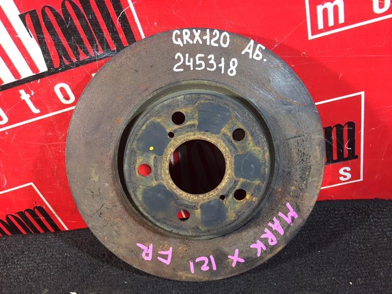 Диск тормозной Toyota Mark X GRX120 4GR-FSE 2004 передний