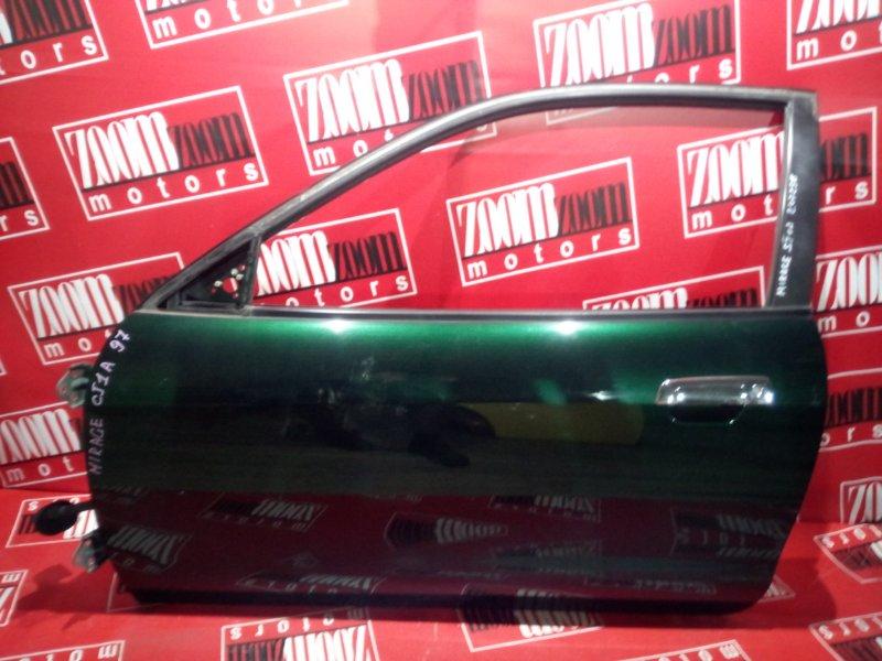 Дверь боковая Mitsubishi Mirage CJ1A 4G13 1997 передняя левая зеленый