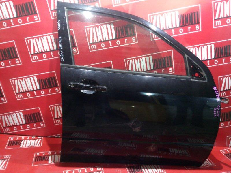 Дверь боковая Mitsubishi Airtrek CU2W 4G64 2001 передняя правая черный