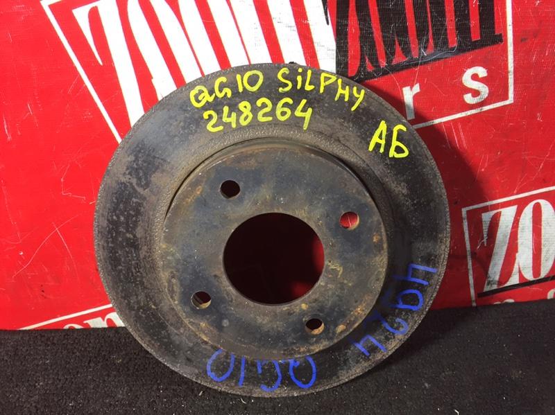 Диск тормозной Nissan Bluebird Sylphy TG10 QG15DE 2000 передний