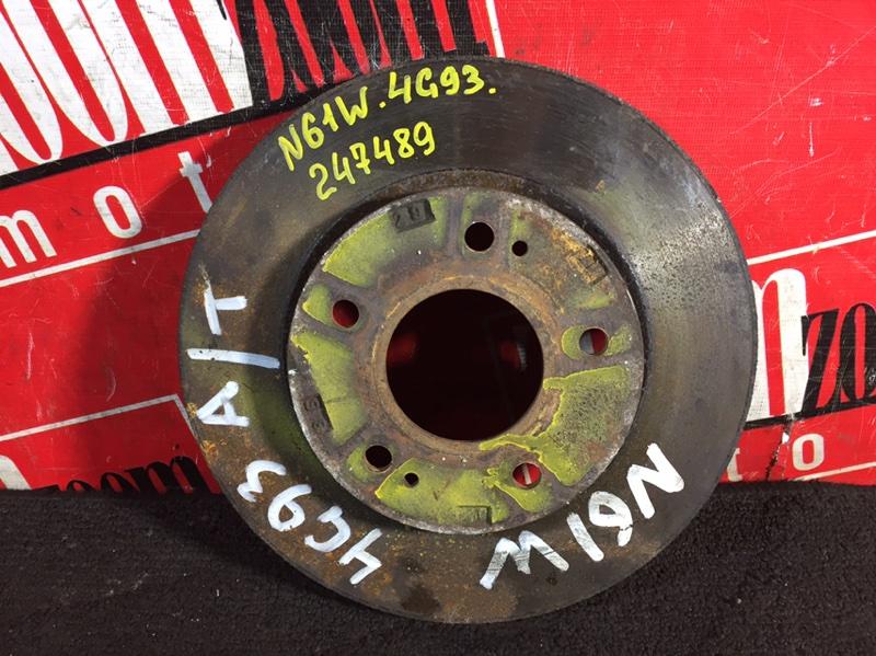 Диск тормозной Mitsubishi Rvr N61W 4G64 1997 передний