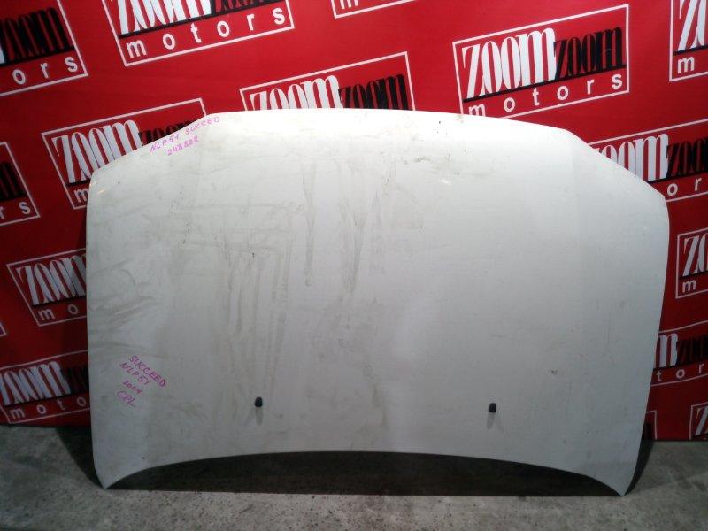 Капот Toyota Succeed NLP51 1ND-TV 2002 белый