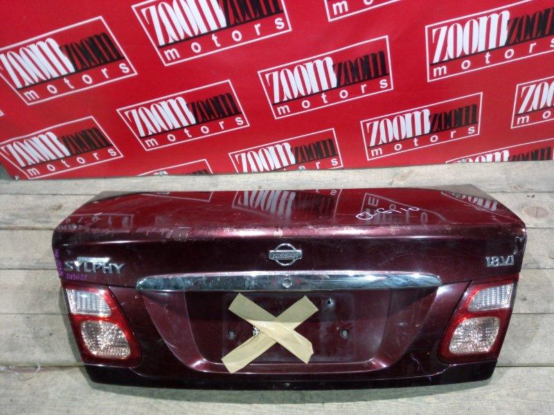 Крышка багажника Nissan Bluebird Sylphy QG10 QG18DE 2000 задняя вишневый