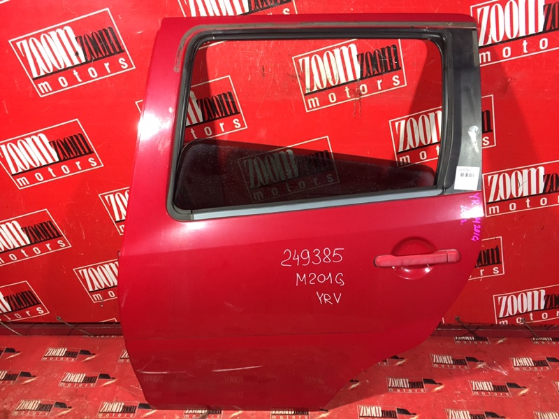 Дверь боковая Daihatsu Yrv M201G K3-VE 1998 задняя левая красный