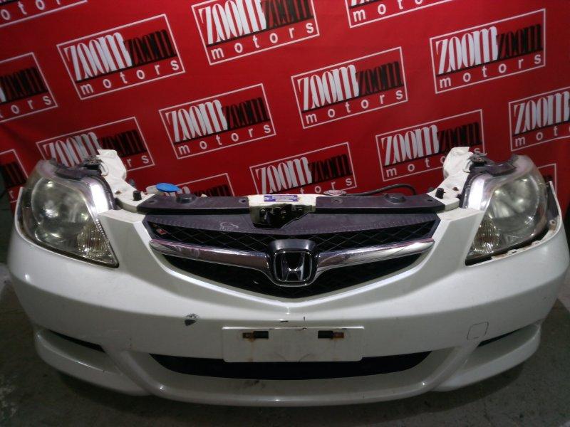 Nose cut Honda Fit Aria GD8 L15A 2005 передний белый перламутр 56-60
