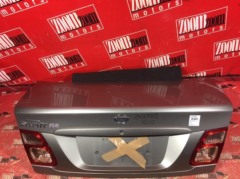 Крышка багажника Nissan Bluebird Sylphy TG10 QG15DE 2000 задняя серебро