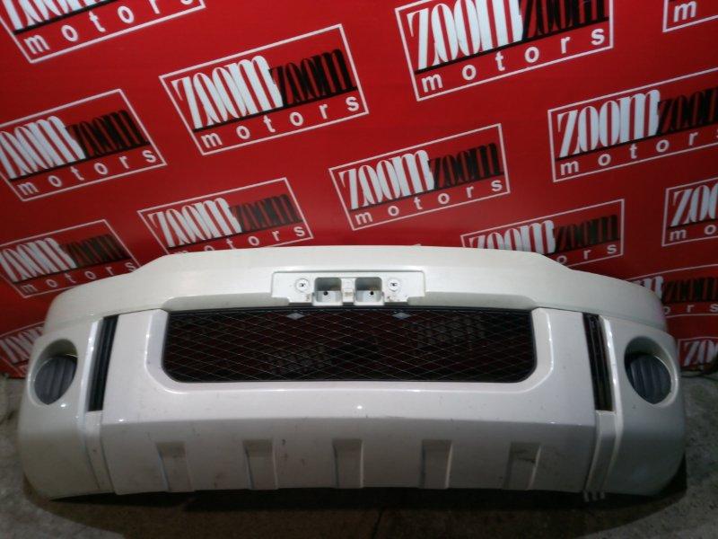 Бампер Mitsubishi Delica CV5W 4B12 2007 передний белый перламутр