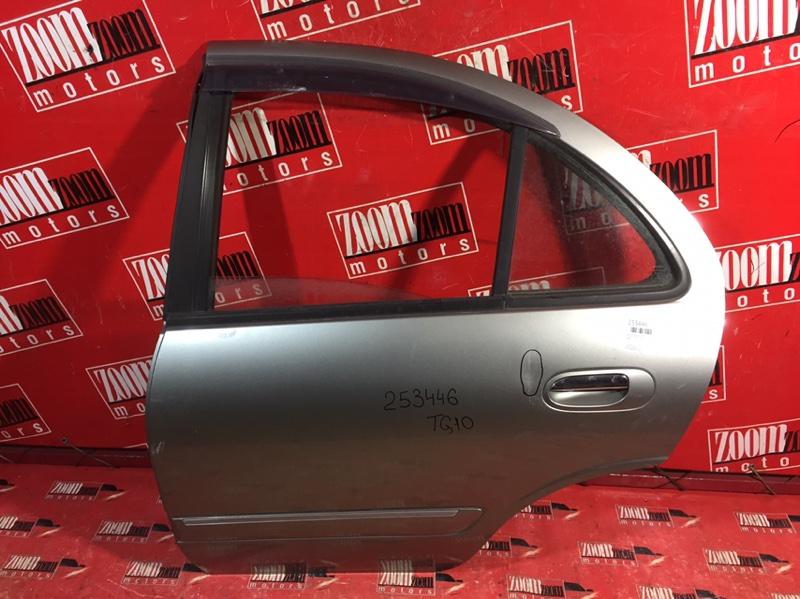 Дверь боковая Nissan Bluebird Sylphy TG10 QG18DE 1998 задняя левая серый