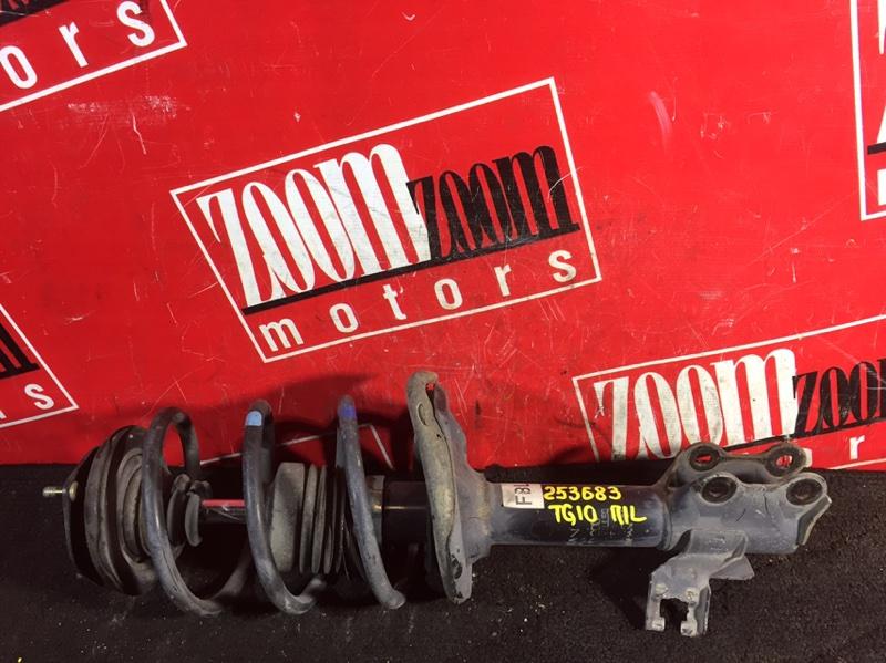 Стойка подвески Nissan Bluebird Sylphy TG10 QG18DE 1998 передняя левая