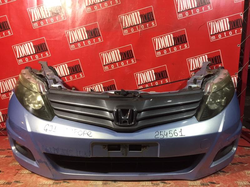 Nose cut Honda Airwave GJ1 L15A 2005 передний голубой