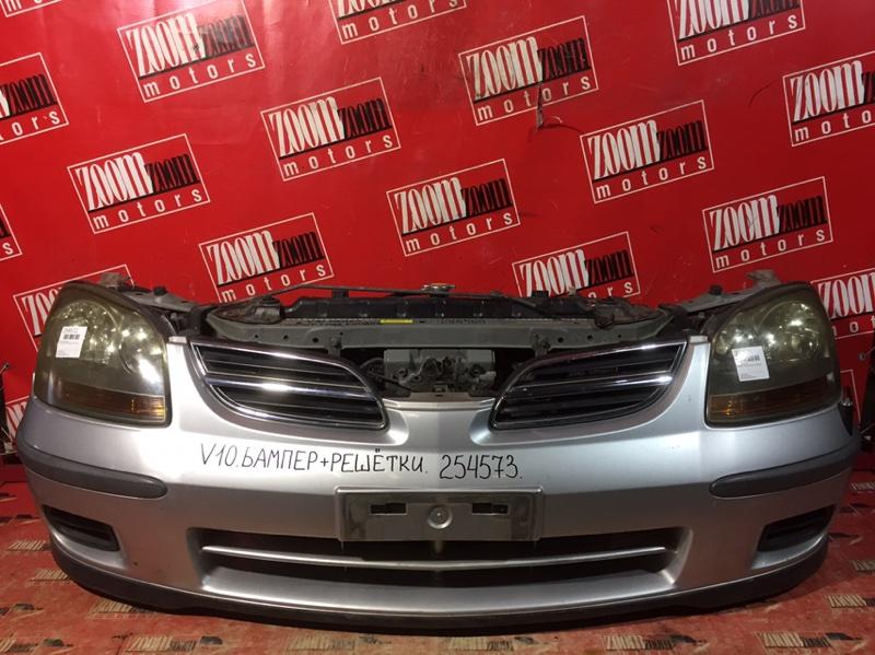 Бампер Nissan Tino V10 QG18DE 1998 передний серебро