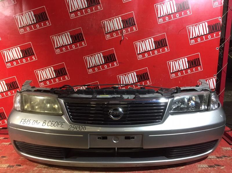 Nose cut Nissan Sunny FB15 QG15DE 2003 передний серебро