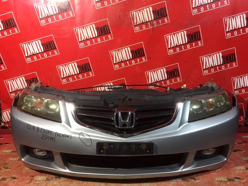 Nose cut Honda Accord CL9 K24A 2002 передний серебро