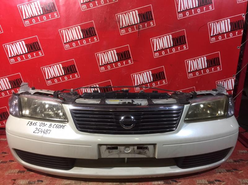 Nose cut Nissan Sunny FB15 QG15DE 2003 передний белый перламутр
