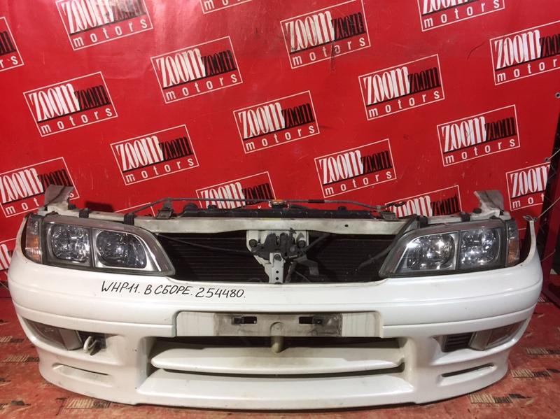 Nose cut Nissan Primera WHP11 SR20DE 1999 передний белый перламутр