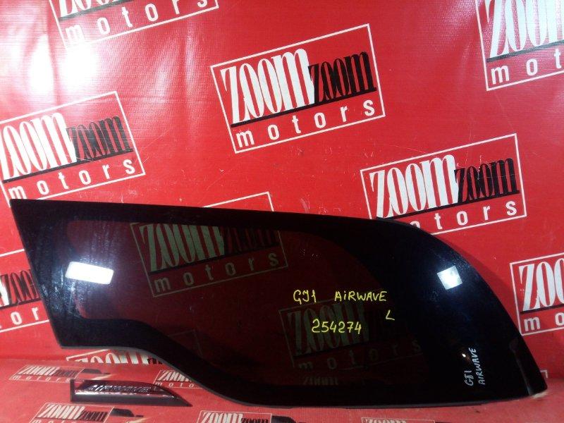 Стекло собачника Honda Airwave GJ1 L15A 2005 заднее левое